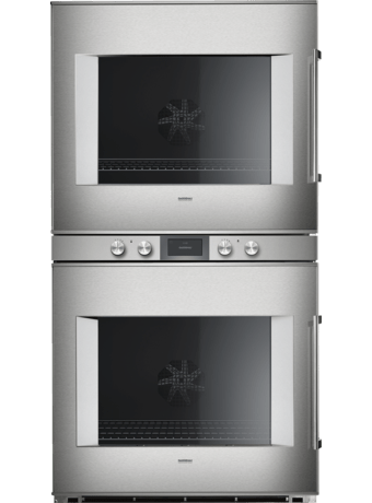 Double oven 76cm 400 series ss/glass L
