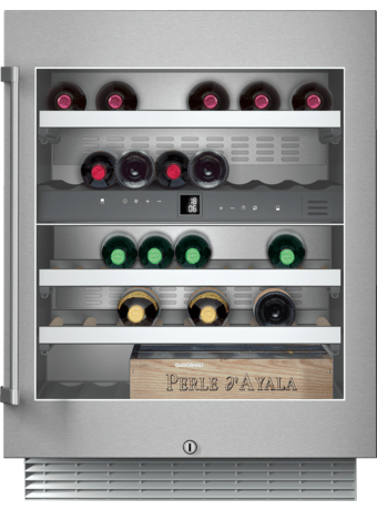 Wine climate cabinet,bu,SS/glass