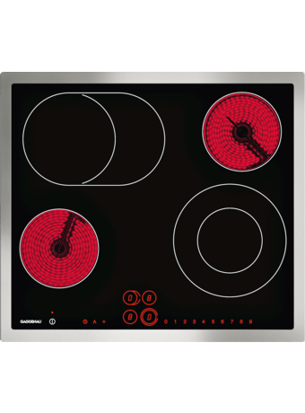 Glass ceramic cooktop 60 cm with frame