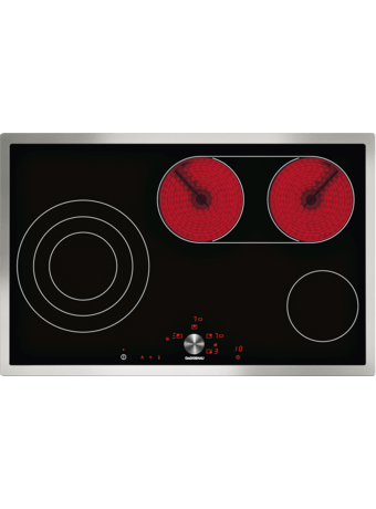 Glass ceramic cooktop 80 cm with frame