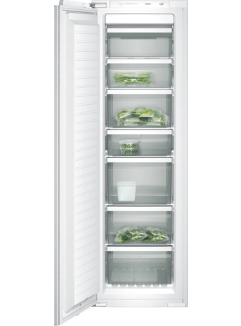 Built-in upright freezer