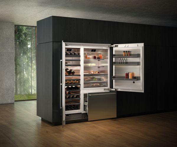 Vario Kühlgeräte-Serie400 Kühl-und Gefrierkombination Weinschrank Kombination