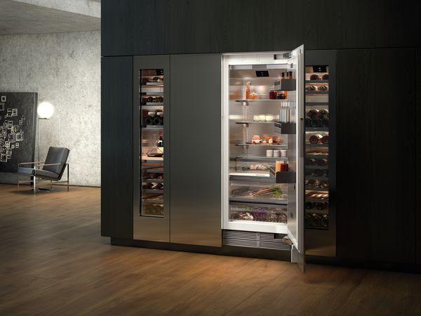 Side By Side Kühlschrank Unterbau : Personalisiertes kühlen: kühlgeräte serien 200 und 400 gaggenau