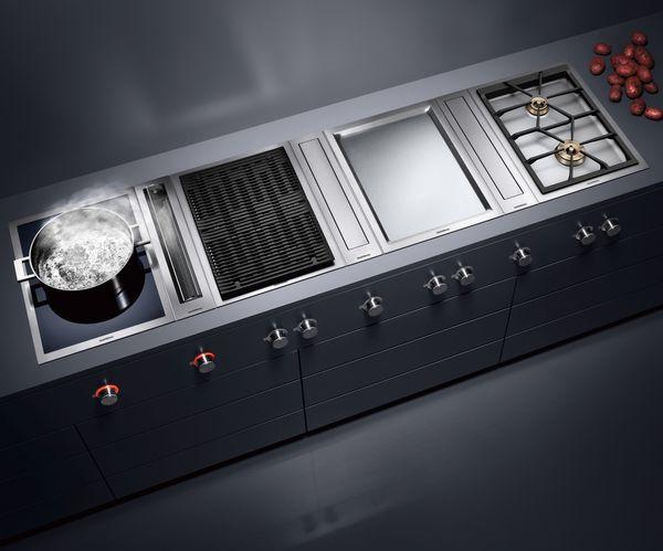 Vario Kochgeräte-Serie400 Teppan Yaki Flex-Induktionskochfeld und Dampfgarer