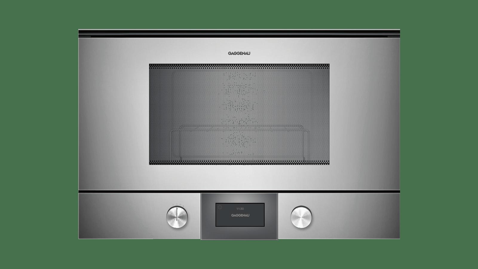 Etagere Dessus Micro Onde four micro-ondes série 200 porte plein verre en gaggenau