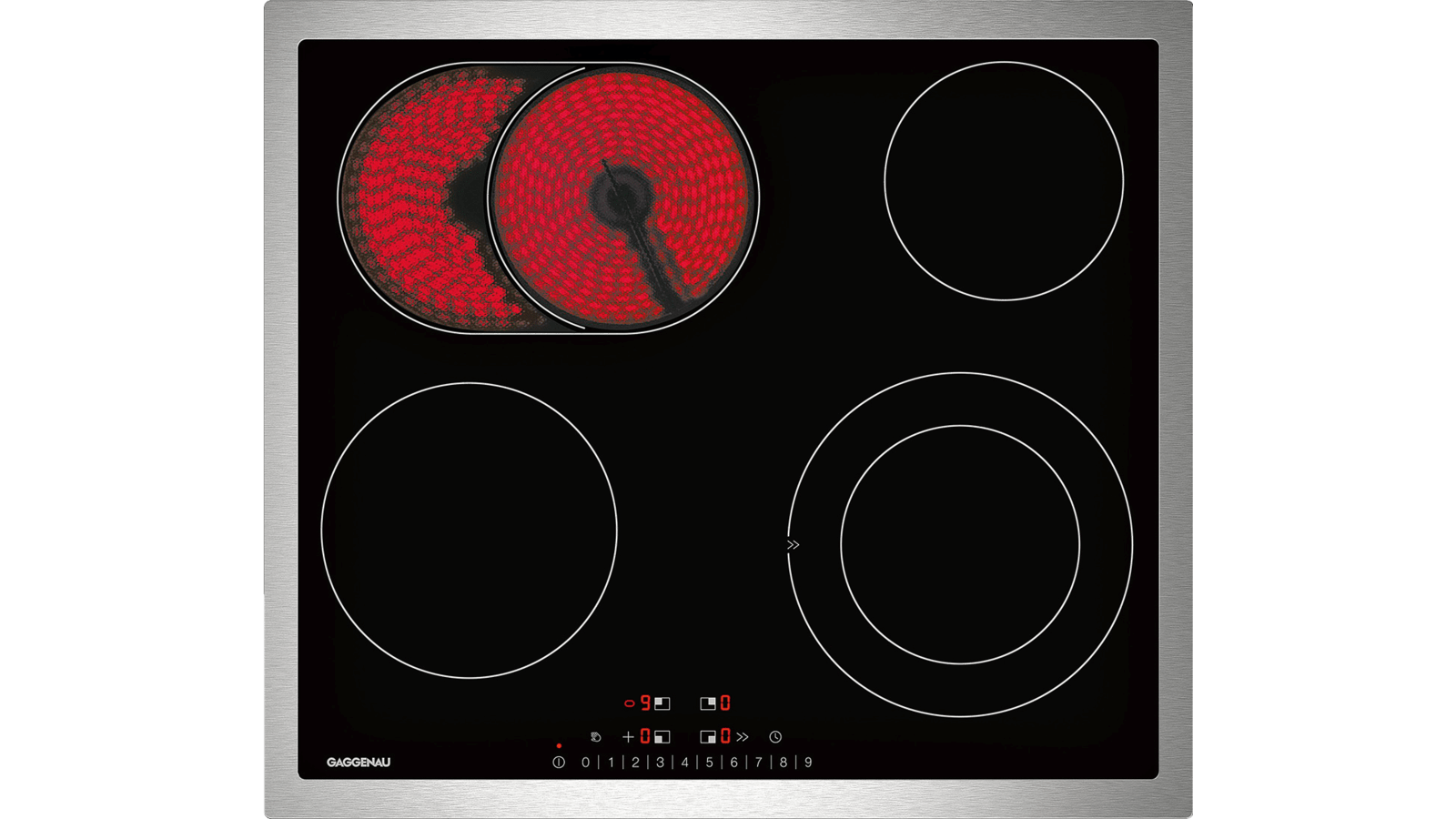 Différence Vitrocéramique Et Induction glass ceramic cooktop stainless steel frame - 200 series