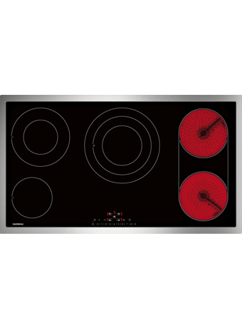 Glass ceramic cooktop 90 cm with frame