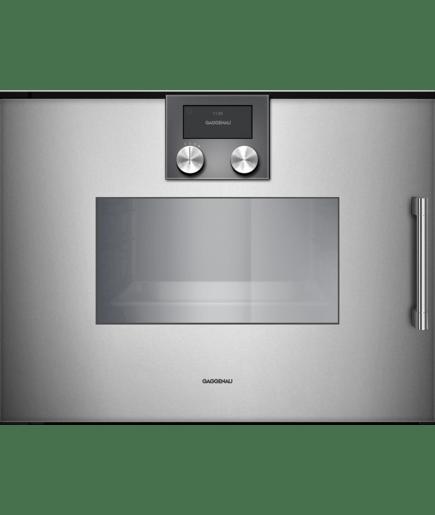 steam oven 200 series full glass door in gaggenau metallic 200 rh gaggenau com Gaggenau Appliances UK Gaggenau Appliances Logo